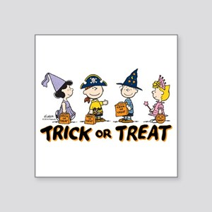 "The Peanuts Gang: Trick or Square Sticker 3"" x 3"""