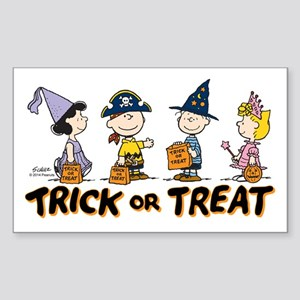 The Peanuts Gang: Trick or Tre Sticker (Rectangle)