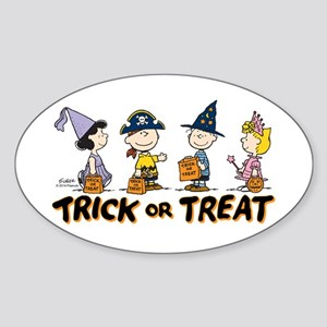 The Peanuts Gang: Trick or Treat Sticker (Oval)