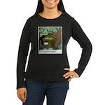 Electric Antler Women's Long Sleeve Dark T-Shirt