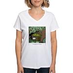 Electric Antler Women's V-Neck T-Shirt