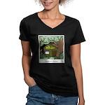 Electric Antler Women's V-Neck Dark T-Shirt