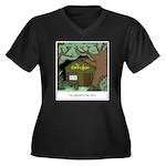 Electric Ant Women's Plus Size V-Neck Dark T-Shirt