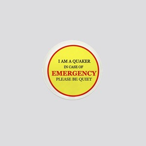 Quaker - In Case of Emergency Mini Button