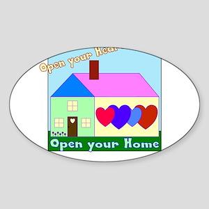 Open your Heart Sticker