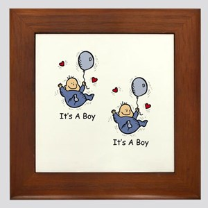 It's a Boy Twin Baby Boy Announcement Design Frame