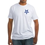 The Blue Masonic Star Fitted T-Shirt