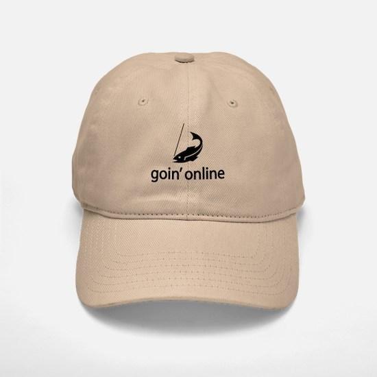 goin' online Baseball Baseball Cap