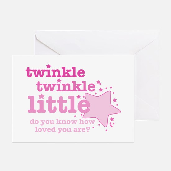 Twinkle Twinkle Pink Greeting Cards (Pk of 10)