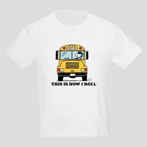 Snoopy: This is How I Roll Kids Light T-Shirt