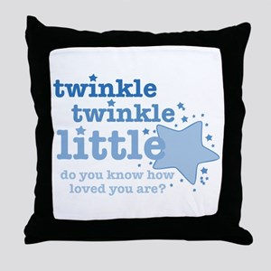 Twinkle Twinkle Blue Throw Pillow