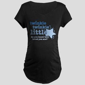 Twinkle Twinkle Blue Maternity Dark T-Shirt