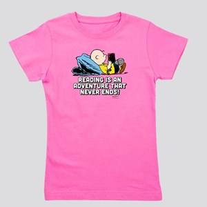Charlie Brown Reading Adventure Girl's Tee