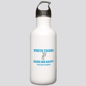 White Tigers Make Me H Stainless Water Bottle 1.0L