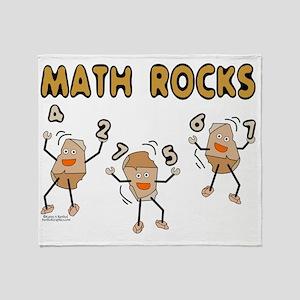Math Rocks Throw Blanket