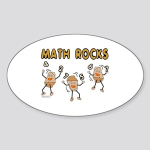Math Rocks Sticker (Oval)