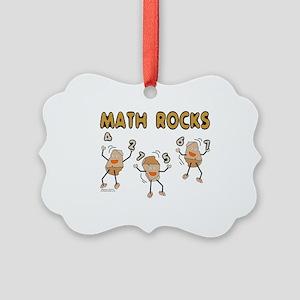 Math Rocks Picture Ornament
