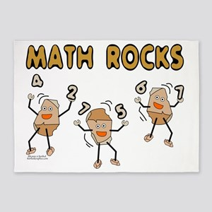 Math Rocks 5'x7'Area Rug