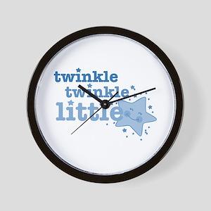 Twinkle Star Blue Wall Clock