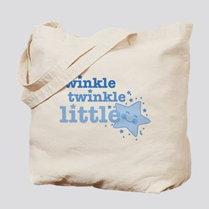 Twinkle Star Blue Tote Bag