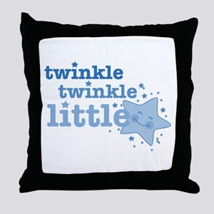 Twinkle Star Blue Throw Pillow