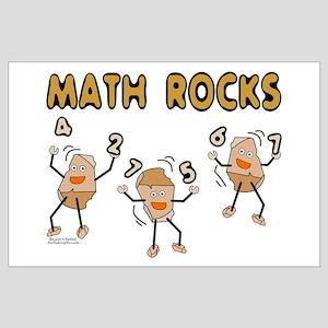 Math Rocks Large Poster