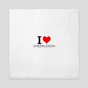 I Love Cheerleading Queen Duvet
