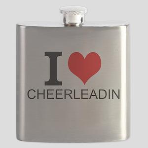 I Love Cheerleading Flask