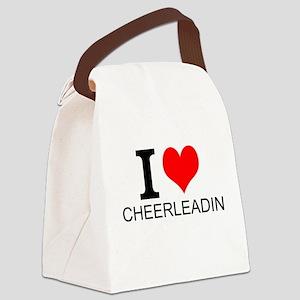 I Love Cheerleading Canvas Lunch Bag