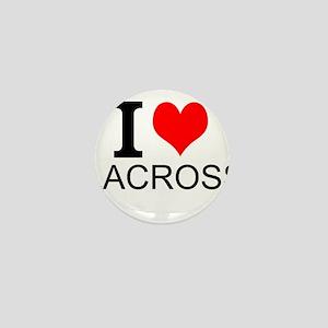 I Love Lacrosse Mini Button