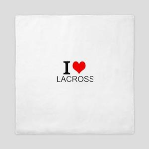 I Love Lacrosse Queen Duvet