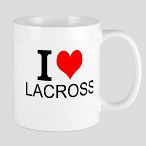 I Love Lacrosse Mugs