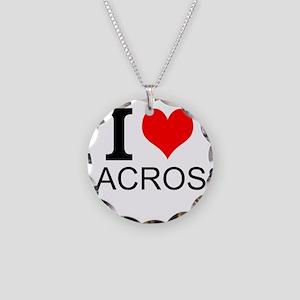 I Love Lacrosse Necklace