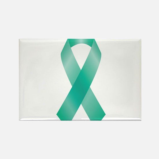 Teal Awareness Ribbon Magnets