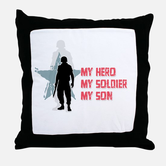 My Hero-My Son Throw Pillow