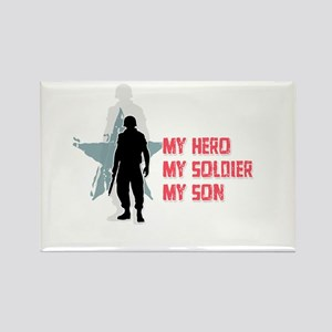 My Hero-My Son Rectangle Magnet