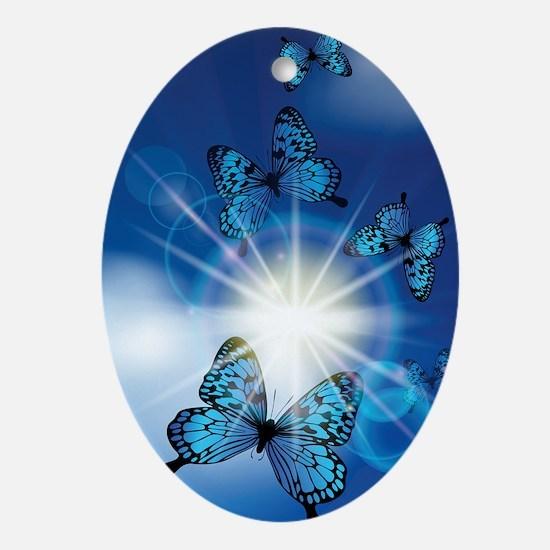 Cute Butterflies Oval Ornament