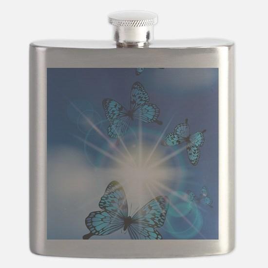Cute Butterflies Flask