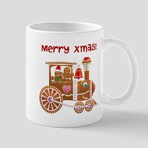 Gingerbread Christmas Train 11 oz Ceramic Mug