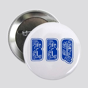 Red White & Blue BBQ Button