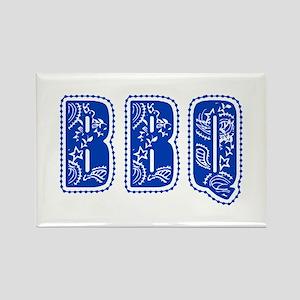 Red White & Blue BBQ Rectangle Magnet