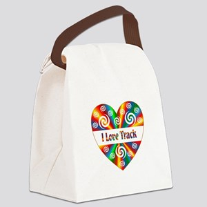 I Love Track Canvas Lunch Bag