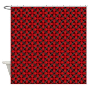 Black And White Trellis Shower Curtains