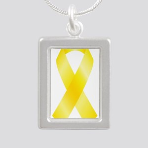 Yellow Awareness Ribbon Necklaces