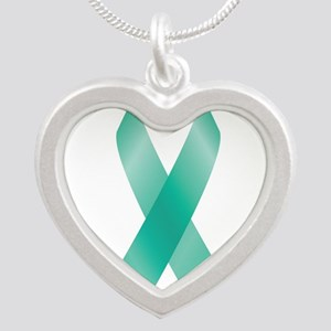 Teal Awareness Ribbon Necklaces