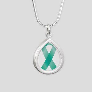 Teal Awareness Ribbon Necklaces