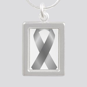 Silver Awareness Ribbon Necklaces