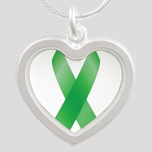 Green Awareness Ribbon Necklaces