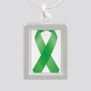 Green Awareness Ribbon Necklaces
