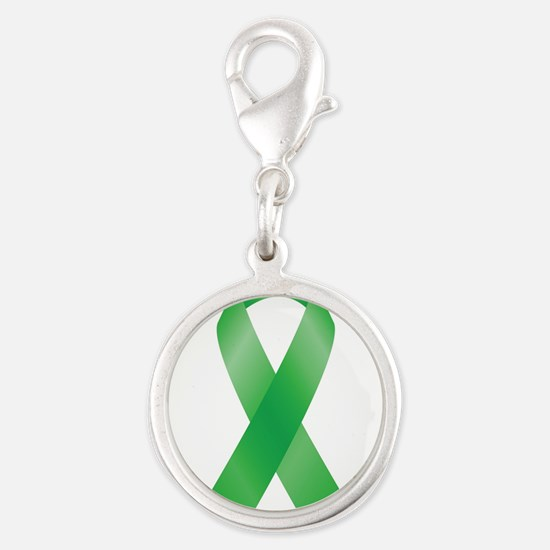 Green Awareness Ribbon Charms
